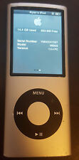 Silver Apple iPod Nano 4th Generation (16 GB) Works Great! Fast Shipping!
