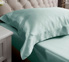 Jasmine Silk 19 MM Charmeuse Oxford Silk Pillow Case Duck egg