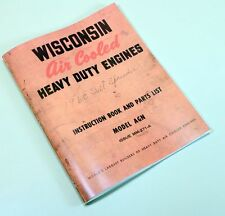 WISCONSIN AGN ENGINE SERVICE REPAIR INSTRUCTION OPERATORS PARTS MANUAL BOOK