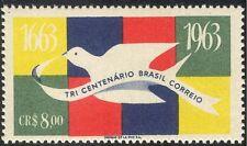 Brazil 1962 Tercentenary Brazilian Post/Carrier Pigeon/Mail/Animated 1v (n28503)