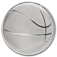 1 Unze Silber Round Domed Basketball gewölbte Round 999,99