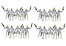20 Star Wars Clone Wars Republic Trooper Gun Ship Pilot Removable Helmet Figure