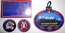 2015 NOAC OA NESA Lot of 2 Red Centennial Coins & Eagle Scout Challenge Patch