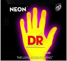 DR NEON NYB6-30 Neon Yellow Luminescent/Fluorescent Bass Guitar 6 Strings 30-125