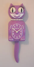 Kit Cat Clock, Orchid Colour Ltd Edition Lady Cat Pendulum Tail Wall Clock