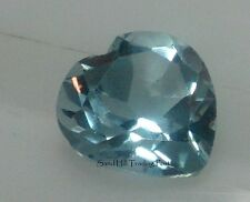Natural 6mm Loose Heart Cut .92ct  Sky Blue Topaz AAA