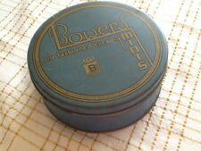 VINTAGE TIN *BOWERS OLD FASHIONED CREAMY MINTS* BLUE CONTAINER ~ RARE ~ PA