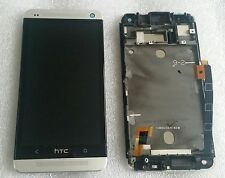Display LCD Touch Screen Digitalizzatore Completo di vetro con cornice HTC ONE m7 DUAL 802w
