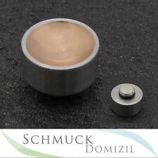 Melano collezione in acciaio inox-Anello di trafilatura circa Rotgold in acciaio inox - 8 mm