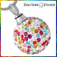 Peerless Pieces Urn Necklace Stainless Steel Awareness Colorful Crystal Ball #6
