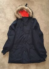 Men's Superdry Parka Duffle Coat New & delabeled BLUE Rrp 149.99 - size XXL