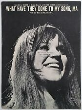 """1970 MELANIE """"WHAT HAVE THEY DONE TO MY SONG, MA"""" SHEET MUSIC ROCK & ROLL ERA"""