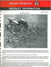 MASSEY FERGUSON MF 39 CULTIVATOR PRODUCT INFORMATION - BX107