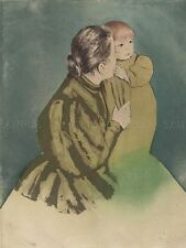 MARY CASSATT AMERICAN PEASANT MOTHER CHILD (2) OLD ART PAINTING POSTER BB6150A