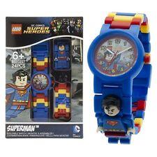 LEGO ~ ~ ~ Reloj De Superman Dc Super Heroes + Mini Figura ~ para armar ~ ~ FAB Nuevo Y En Caja