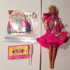 Vintage 1987 BARBIE and the Sensations DOLL in Outfit W/Tape & Extras Mattel
