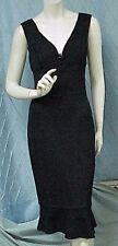 ST. JOHN designer little black knit dress, sz. 8