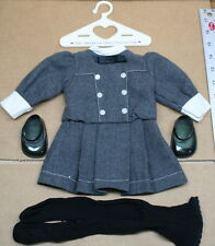 American Girl Doll Gray School Outfit With Shoes Stockings Pleasant Company