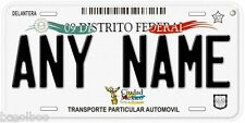 Distrito Federal Mexico City Any Name Number Novelty Auto Car License Plate C01