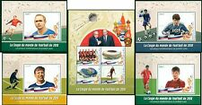 Football Soccer Russia World Cup 2018 Putin Sputnik Mali MNH stamps set 5 sheets