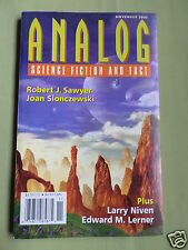 ANALOG - SCIENCE FICTION & FACT MAG  -NOV 2002- ROBERT J SAWYER - LARRY NIVEN