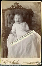 Cabinet Photo-Very Cute Smiling Baby-Long Gown-Ornate Chair-Detroit-McMichael Ph