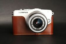 Genuine real Leather Half Camera Case bag for Olympus E-PL6 EPL6 E-PL5 EPL5 A