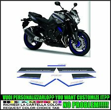 kit adesivi stickers compatibili  fz8 blu race 2013