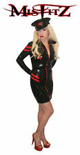 MISFITZ LATEX RUBBER MILITARY DOMINATION DRESS SIZES 8 - 32 MADE TO MEASURE