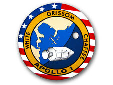 4x4 inch Round APOLLO 1 (one) Logo Sticker - space astronomy science nasa seal i