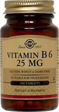 Solgar Vitamin B6 25mg 100 Tablets