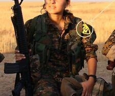 Anti-Isis Syria-Iraq Kurdish Velcro SSI: PESHMERGA Figurehead Öcalan RÊBER APO
