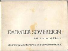 Daimler Sovereign XJ Series I 2.8 & 4.2 Litre original Handbook 1972-73 E1022/5