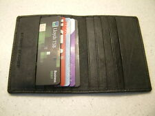 LUXURY SLIMLINE PREMIUM QUALITY LEATHER BUSINESS CARD CREDIT CARD HOLDER WALLET