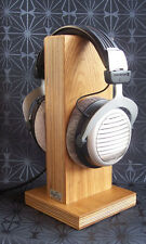 HeSy Headphone Stand Holder handmade from birch plywood with solid oak wood