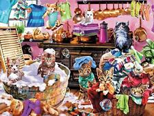CEACO PAWS GONE WILD PUZZLE KITTENS IN THE KITCHEN STEVE READ 550 PCS #2323-2