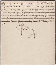 Friedrich III. – Brief mit eigenh. Unterschrift als Kaiser während der 99 Tage
