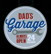 DAD'S Garage Always Open 24 hours - Sturdy Metal Magnet - hang on anything metal
