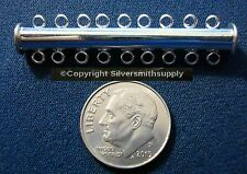 9 Strand magnetic tube slide silver plate 9 nine strand jewelry clasp fpc070