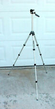 HOLLYWOOD ALUMINUM CAMERA TRIPOD FOUR TELESCOPING SECTION LEGS EXTENDS 46 INCHES