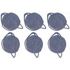 6 Pack of 3/8 Inch x 6 Ft Navy Blue Double Braid Nylon Fender Lines for Boats