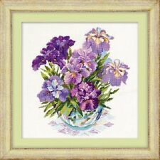 "Counted Cross Stitch Kit RIOLIS - ""Irises in Vase"""