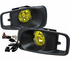 For 1999-2000 Honda Civic EK JDM Yellow Lens Driving Fog Lights w Switch RH & LH