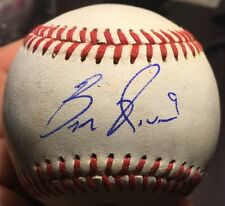 BEN REVERE Signed Autographed Game Used OMiLB Baseball Nationals Blue Jays