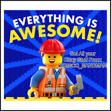"Fridge Fun Refrigerator Magnet LEGO MOVIE ""EVERYTHING IS AWESOME!"" Version: A"