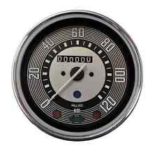 VW BUG BUS GHIA 120 KPH SPEEDOMETER w/TRIP ODOMETER Beetle Kilometers New Gauge