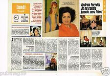 Coupure de presse Clipping 1988 (2 pages) Andréa Ferreol