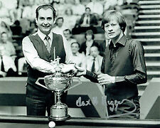 Alex HIGGINS SIGNED 10x8 Photo AFTAL COA Snooker Autograph with Ray REARDON