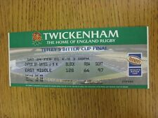 24/02/2001 Rugby Union Ticket: Anglo-Welsh [Tetleys Bitter] Cup Final - NEC Harl