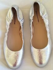 $148 Sz 6 J Crew Emma Crackled Metallic Leather Ballet Flats  #A0594 Shoes